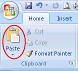 گزینه Paste - گزینه چسباندن-چرخاندن مت-چرخاندن جدول در ورد-rotate word