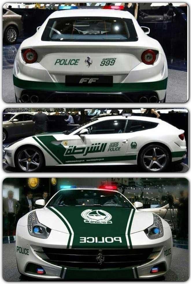 خودروهای پلیس دبی - فراری ff