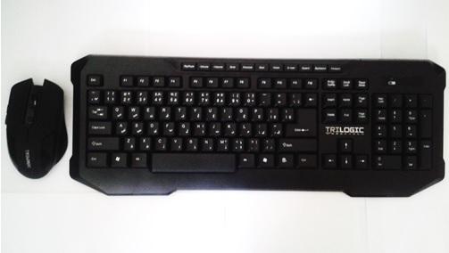 کیبورد کیبرد Model KBW-636 wireless  کی برد و موس وایرلس تری لاجیک keyboard تریلاجیک trilogic keboard mouse