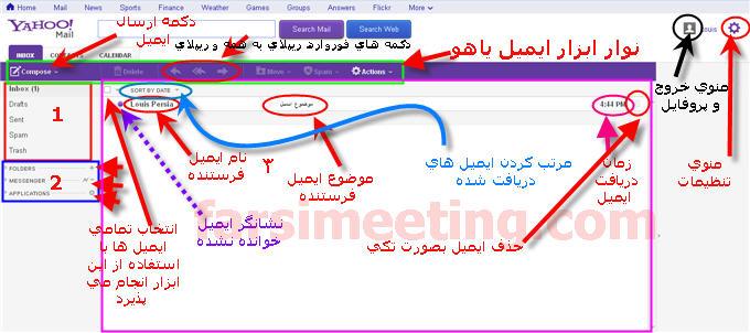 ارسال ایمیل-ersal email-آموزش ارسال ایمیل-Amoozesh ersal email-ایمیل یاهو-اتچ کردن فایل-attach files