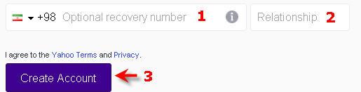 optional recovery number اکانت یاهو ساخت ایمیل تصویری در ساختار جدید سایت یاهو Yahoo مشکل ساخت ایمیل farsimeeting.com یاهو فارسی farsiyahoo فارسی یاهو yahoo farsi-ایمیل یاهو shoj hdldg dhi,