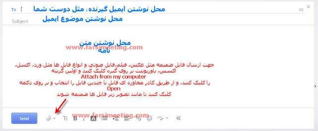 ارسال عکس از طریق ایمیل-ارسال ایمیل-ersal email-آموزش ارسال ایمیل-Amoozesh ersal email-ایمیل یاهو-اتچ کردن فایل-attach files