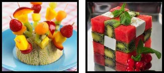 تصاویر میوه ها و خوراکی های تزئین شده در شب یلدا-جشن شب یلدا-تزئین هندوانه شب یلدا-tazein hendavane shab chele-تزیین هندوانه-میوه های شب چله-تربچه-سیب-انار-طالبی آناناس-کدو-کیوی