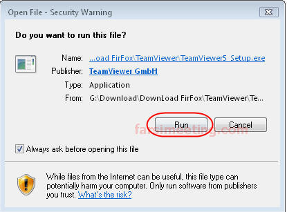 security warning-download teamviewer-دانلود نرم افزار teamviewer جهت ارتباط از راه دور-نرم افزار TeamViewer نرم افزاری با حجم بسیار کم
