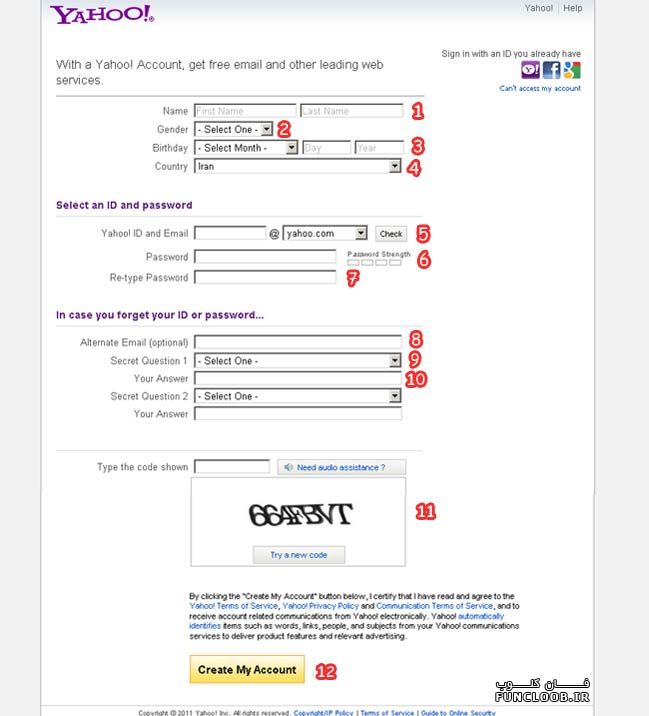 amozesh sakhte email be sorate tasviri-آموزش ساخت ایمیل یاهو بصورت تصویری